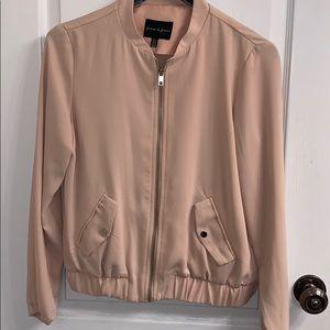 Blush Pink Bomber Jacket size S